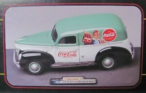 Coca-Cola 1940 Ford Sedan Delivery Van 1:18 Scale Die-Cast (1999) MatchBox
