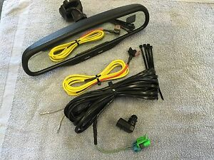 02 06 Silverado Sierra Tahoe Suburban Compass Temp Auto Dimming Mirror Kit