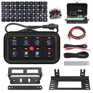 8 Gang Switch Panel Electronic Relay System Fuse Relay Box Marine Boat Off Road