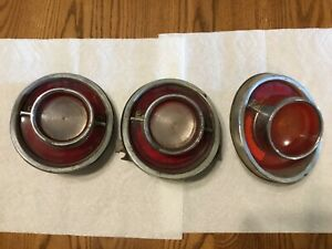 3 Vintage Original 1964 Chevy Impala Back Up Tail Light Lens Housings Sae b 64
