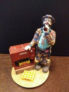 Coca-Cola Emmett Kelly Figurine At The Red Cooler 1994 Stanton Arts Limited Ed.