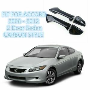Fit For 2008 2012 Honda Accord Coupe Carbon Fiber Style Door Handle Covers Trims