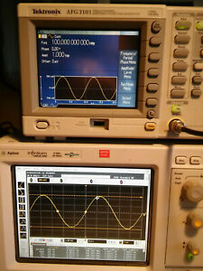 Tektronix Afg3101 100mhz 1gs s Arbitrary Function Generator Tested