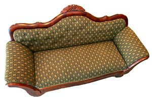 Antique Victorian Carved Loveseat
