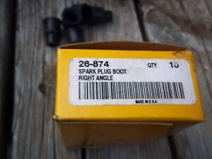 Box Of 10 Kimball Midwest Spark Plug Wire Ends Right Angle Nipple 26 874