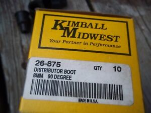 Box Of 10 Kimball Midwest Spark Plug Wire Ends 8mm Dist Boot 90 26 875