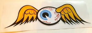 Von Dutch Flying Eyeball Sticker Decal Hot Rod Rat Vintage Look Kustom Kulture