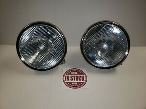 1928 1929 Ford Model A Headlights 6 Volt Stainless Steel Street Hot Rod