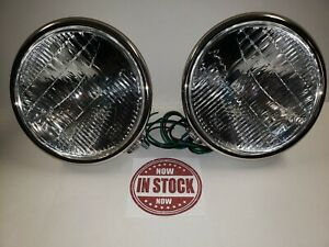 1928 1929 Ford Model A Headlights 12 Volt Stainless Steel Street Hot Rod