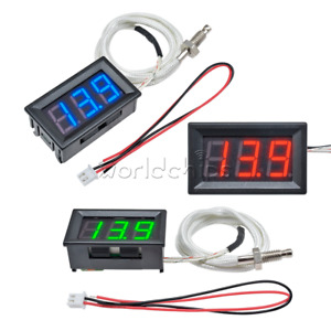 Dc 12v Digital Led Display K type Thermocouple Temperature Meter Thermometer