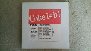 ORIGINAL COCA-COLA COKE IS IT RADIO COMMERCIAL ADVERTISEMENTS REEL TO REEL TAPE