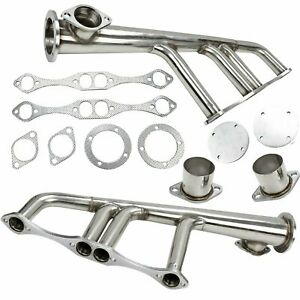 New Street Hot Rod Rat Lake Style Headers Fit Sbc 265 400 V 8 Chevy