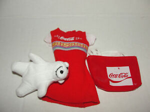 Barbie Doll Coca Cola Dress Bear and Purse Bag Coke