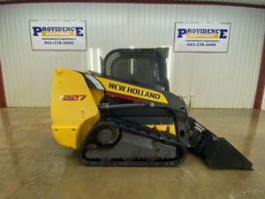 2014 New Holland C227 Cab Compact Track Loader With Ac heat