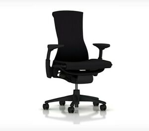 New Embody Office Desk Chair by Herman Miller Black Rhythm Fabric