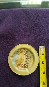 Coca-Cola ASHTRAY COKE used 1974 girl collectable advertising
