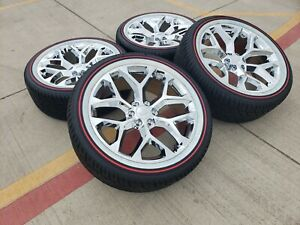 22 Cadillac Escalade Platinum Oem Replica Wheels Rims Vogue 5668 2019 2020 New
