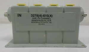 Microwave Filter Company Uhf Tv Channel Bandpass Filter 3278 4 610 4