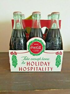 Coca Cola 6 Pack Bottles 1923 Holiday Hospitality Commemorative Box - ALL FULL!!