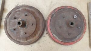 1940 1941 1942 1946 Ford Rear Brake Drums Hubs Original Pair 1947 1948
