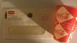 Coca-cola Vintage Items  Envelope San Antonio Texas  Wax Cup  Token Chattanooga