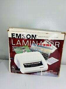 Emson Electric Laminator Model 2291 4 Wide Opening no Sleeves Included