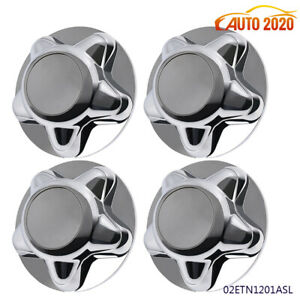 4x Center Wheel Hub Cover Chrome W 7 Cap For 1997 2004 Ford F150 Expedition