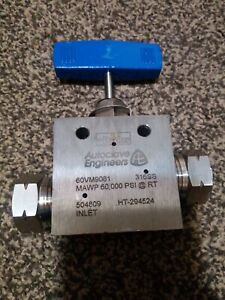 Autoclave Engineers 9 16 60000 Psi Stainless Steel Valve 60vm 9081