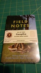 Field Notes Set Of Three Campfire Memo Books