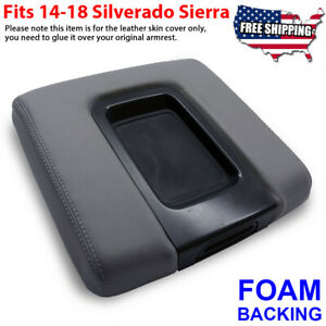 Fit 14 19 Chevy Silverado Gmc Sierra Oem Center Console Armrest Lid Cover Gray