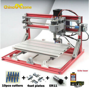 3 Axis Cnc Router Engraver 5 5w Laser Module Pcb Wood Carving Milling Engraving