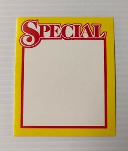 Special Price Cards Display Case shelf Signs Tags 50 Pcs
