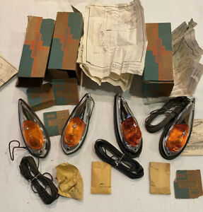 Nos 1963 87 Chevy Gmc Truck Cab Clearance Lights Set Of 4 985977 2234525 Rare