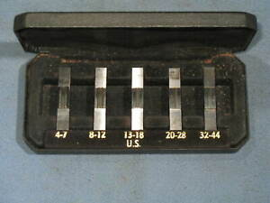 Marlco Thread Measuring Parallels Us 4 7 8 12 13 18 20 28 32 44 Made In Uk