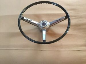 1967 Chevrolet Chevelle Factory Steering Wheel W new Horn Button Contact Used