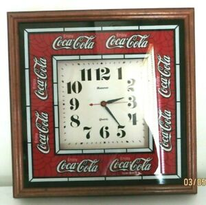 Coca Cola Clock Honover Quartz. Pre-Owned  Very Good Condition.