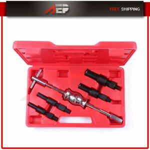 5pcs Inner Bearing Blind Hole Remover Extractor Puller Set Slide Hammer Tool Kit