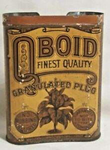 Vintage Cigarette Tobacco tin OBOID Pocket Tin Curved edges No top Rare old one