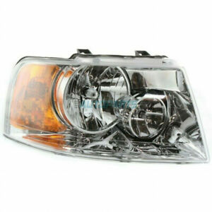 For Ford Expedition Headlight 2003 2004 05 06 Passenger Side Chrome Fo2503181