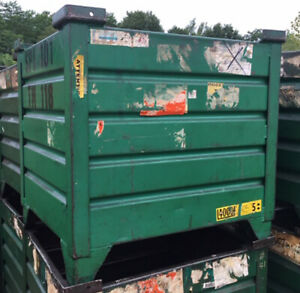 24 X 30 X 24 Corrugated Steel Container Painted Used