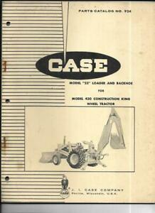 Case Model 23 Loader And Backhoe For 430 Ck Wheel Tractor Parts Catalog No 924
