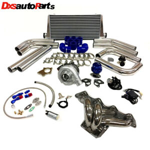 Honda Civic B Series B16 B18 B20 Zc T3t4 63 Turbo Kit Stainless Steel Manifold