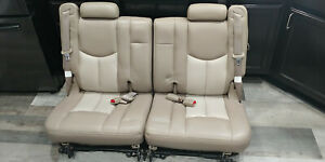 99 06 Chevy Tahoe Gmc Yukon Cadillac Escalade Third 3rd Row Seats Tan Leather