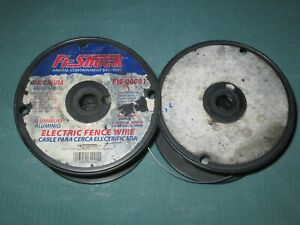 Fi shock Fw 00001t Aluminum Electric Fence Wire For Animal Containment 2 Spools