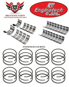 Chevy Chevrolet 402 1970 1973 Enginetech Rod Main Bearings And Piston Rings