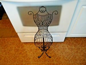 Decorative Curlicue Metal Wire Mannequin Dress Form 29 Tall In Good Shape Nr