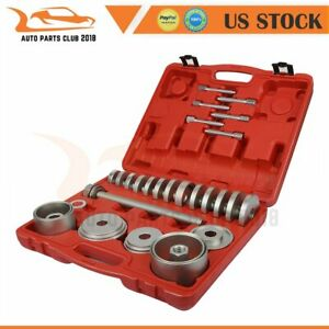 31pcs Front Wheel Drive Bearing Adapters Puller Install Removal Tool W Case