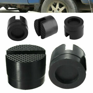 5pc Floor Slotted Car Rubber Jack Frame Protector Adapter Jacking Disk Pad Os29