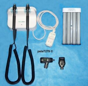 Welch Allyn Gs 777 Set With Macroview Otoscope Coaxial Ophthalmoscope Dispenser
