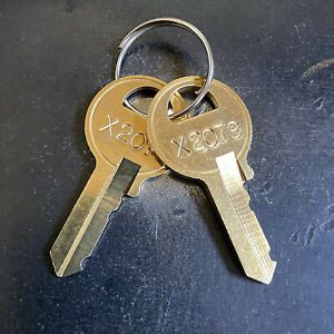 2 Master Padlock Replacement Keys From Key Code X2001 X2250 Free Tracking